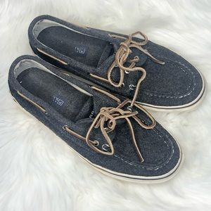 Sperry Topsider Gray Boat Shoes Sz 10M